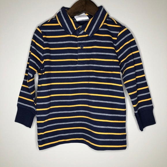 Hanna Andersson Other - NWT Hanna Andersson toddler boys stripe polo LS